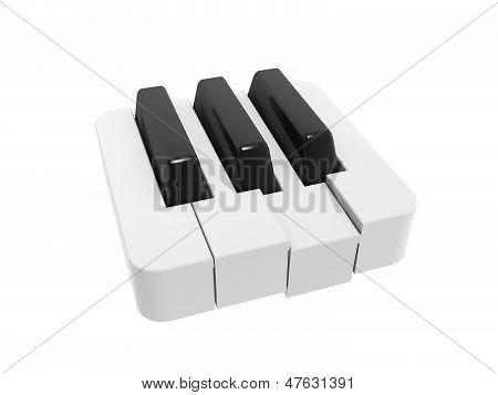 Piano Keyboard Symbol