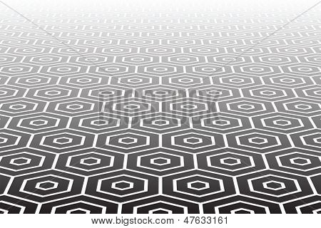 Textured hexagons surface. Abstract geometric background.  Vector art.