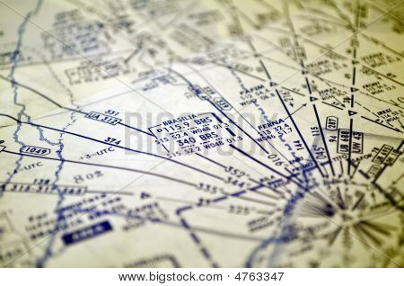 Air Navigation: Map Of Brazil (brasilia Area)