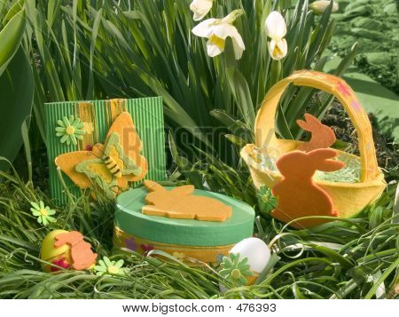 Easter Basket In Daffodils