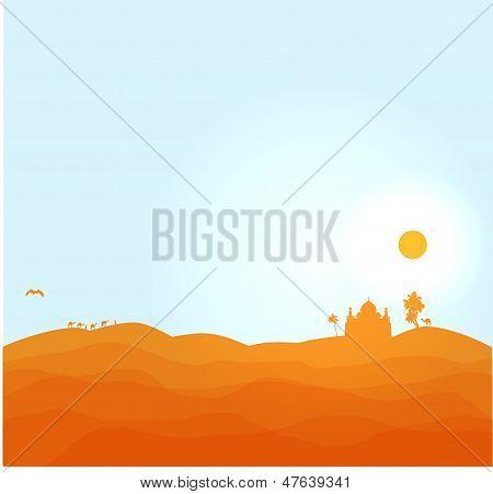 Vectro desert illustration
