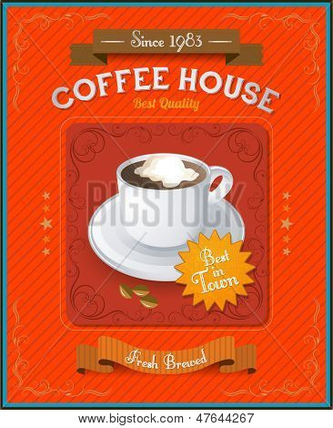 Vintage Coffee House card