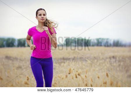 Female Hispanic Runner Outdoors