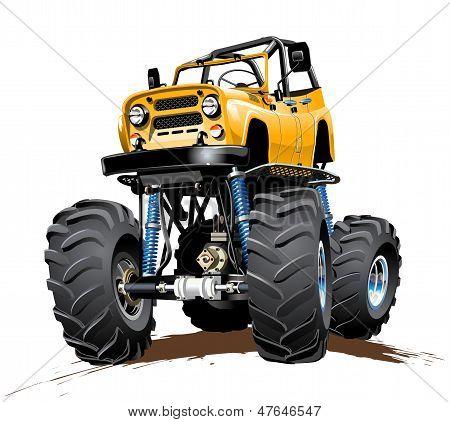 Cartoon Monster Truck one-click reaint
