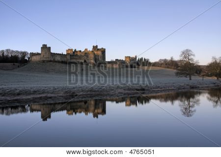 Alnwick Castle At Dawn