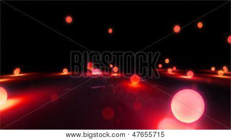 Magenta Bouncing Light Balls Closeup