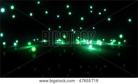 Green Bouncing Light Balls