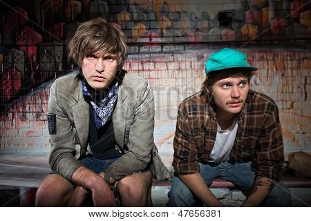 Pair Of Homeless Teens