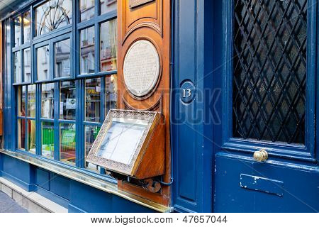 Historical Cafe Procope In Paris