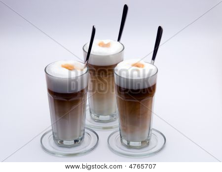 Latte Macchiato With Spoon