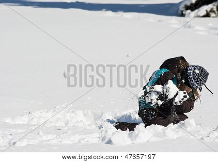 Ducking From The Snowball
