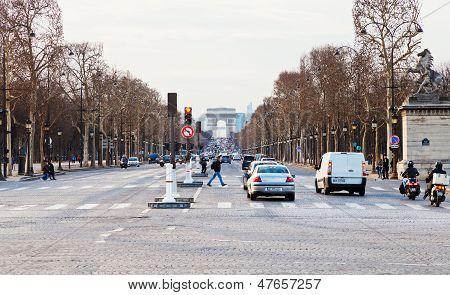 Avenues Des Champs Elysees In Paris