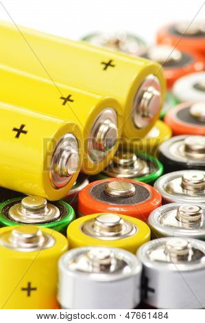 Composition With Alkaline Batteries. Chemical Waste