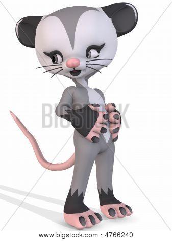 Cute Opossum - Toon Figure
