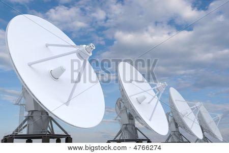 Row Of Radars