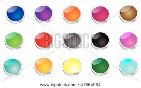 Botones de golpe brillante