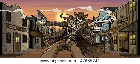 Undead Gunslinger In Ghost Town