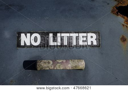 no litter sign