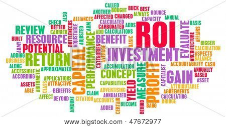 ROI or Return on Investment of Art Concept