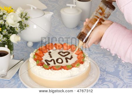 Mommy On A Cake