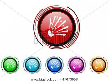 bomb icon set