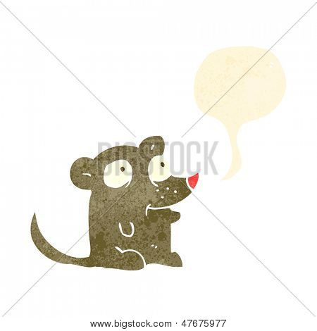 retro cartoon squeaking mouse