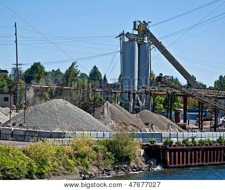 Gravel Pit With Silo