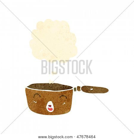 retro cartoon bubbling pan