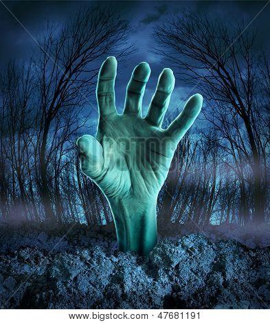 Levantamiento de mano Zombie