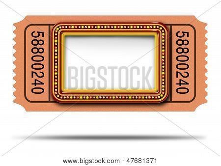Movie Marqueee Ticket