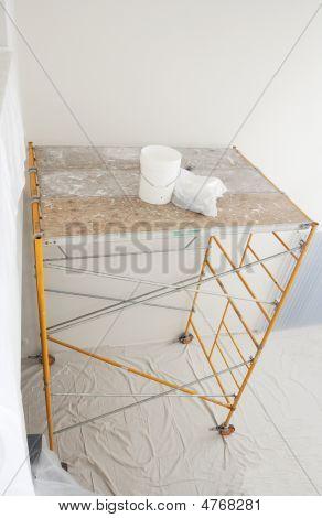 Scaffolding Assembled Indoors