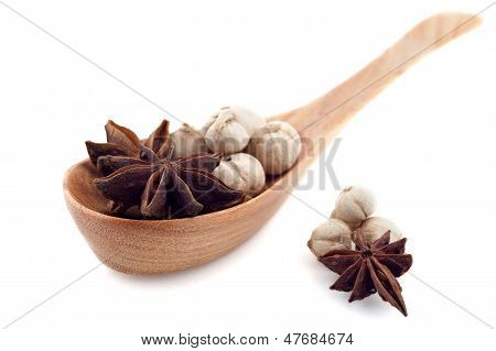 Asian Spice In Wood Spoon