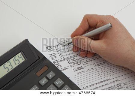 Filling Tax Form