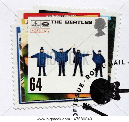"Beatles Album ""help!"" Stamp."