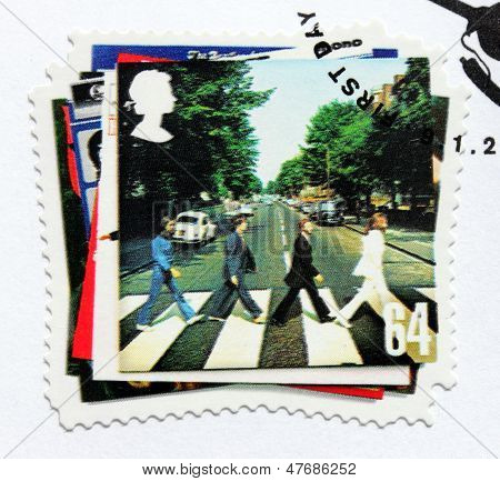 "Beatles Album ""abbey Road"" Stamp"