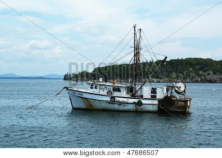 Lobster boat at Frenchman Bay near Bar Harbor, Maine