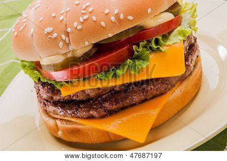 Cheeseburger close up II