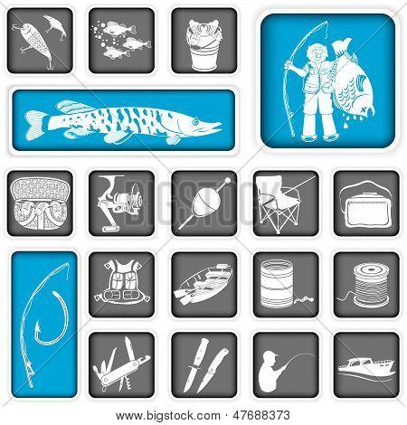 Fishing Squared Icons