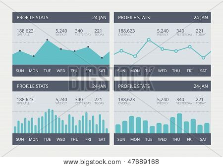 Vector Business Statistic Charts Set