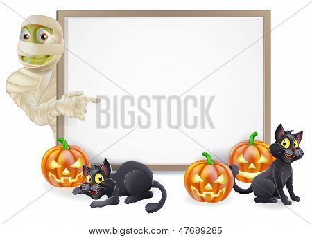 Halloween Mummy Sign