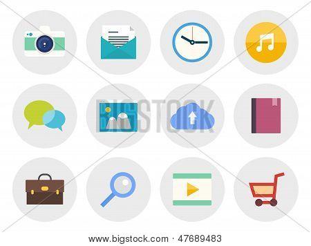 Conjunto de ícones modernos plana