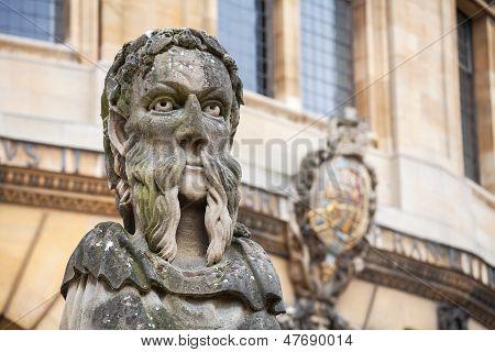 Sheldonian Statues. Oxford,  England