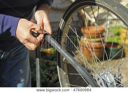 Fixing Flat Bike Tire