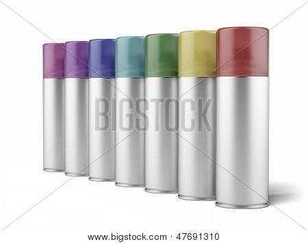aluminum spray cans
