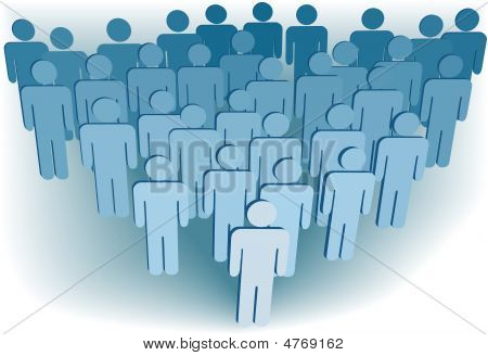 Group Company Congregation Or Population Of 3D Symbol People
