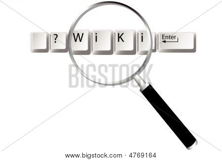 Magnifying Glass Searches Wiki Computer Keyboard Keys