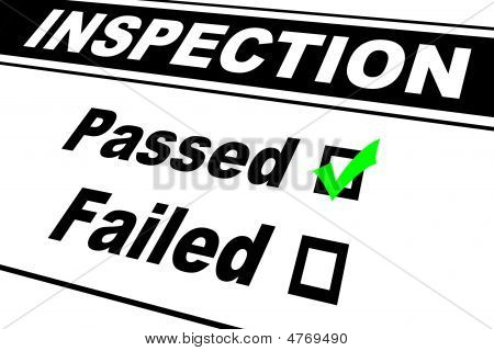 Inspection Results Passed