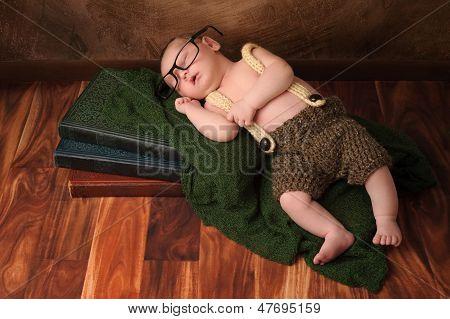 Nerdy Newborn Baby Boy
