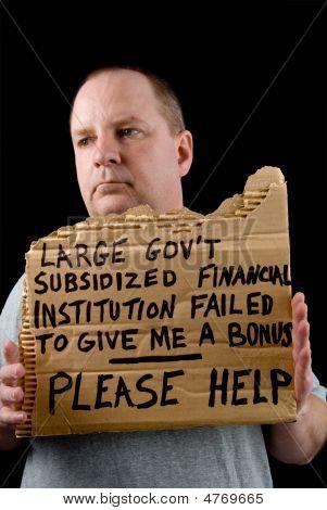 Mendicidad banquero