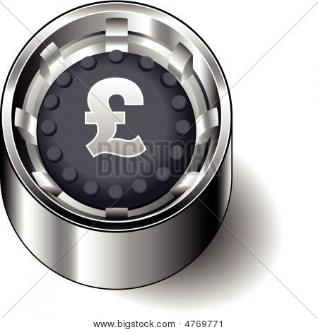 Rubber-button-round-currency-pound